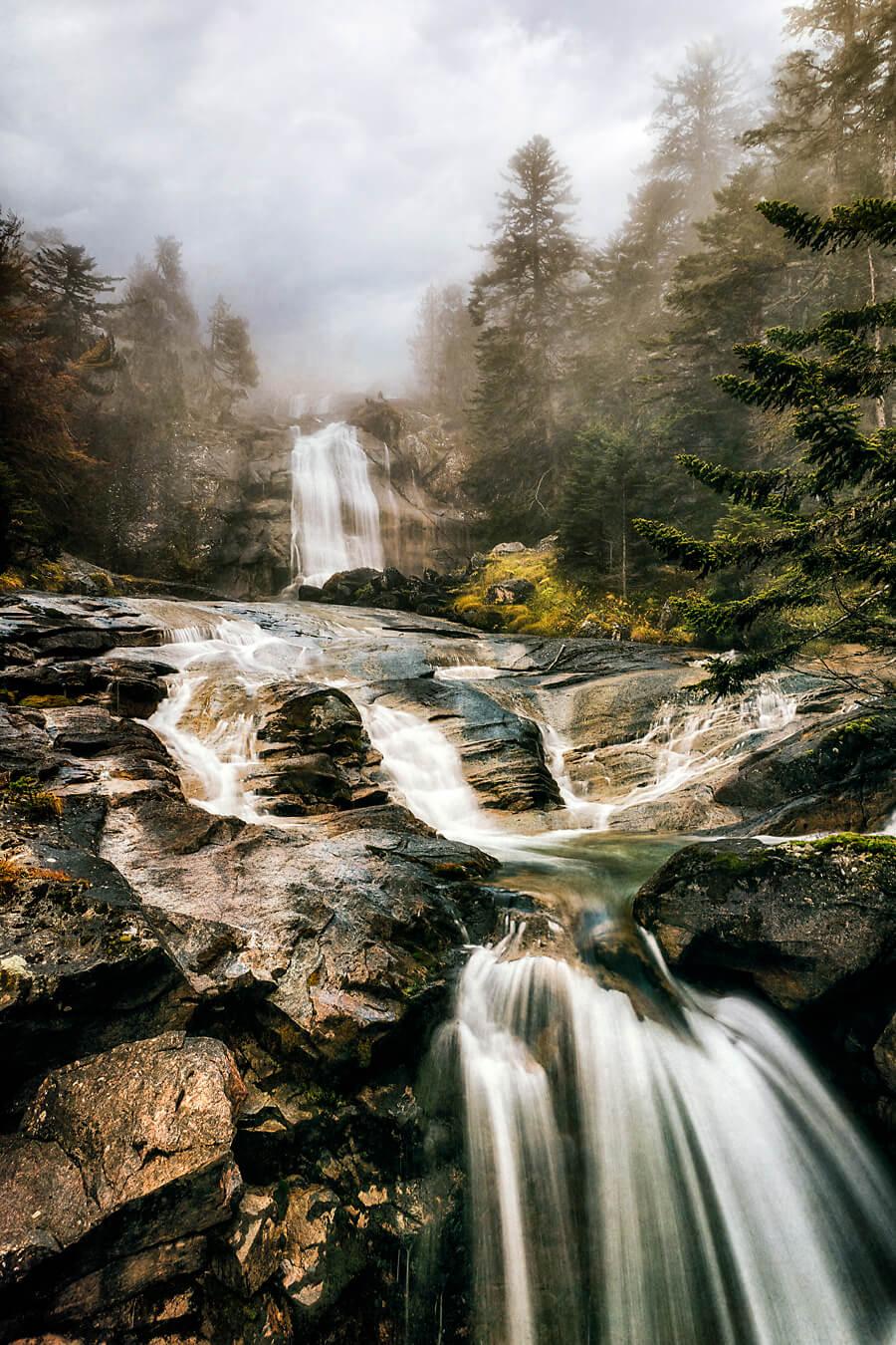 Cauterets waterfall